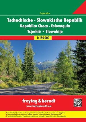 Tsjechië & Slowakije Wegenatlas 1:150.000 F&B