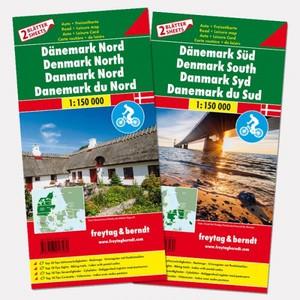 F&B Denemarken Noord en Zuid, set 2 kaarten
