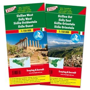 F&B Sicilië Oost en West, set 2 kaarten