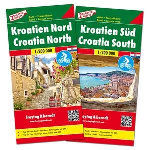 F&B Kroatië Noord en Zuid, set 2 kaarten