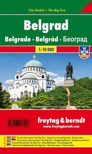Belgrad, Stadtplan 1:10.000, City Pocket + The Big Five