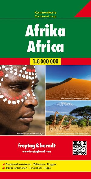 Afrika, Kontinentkarte 1:8 000 000