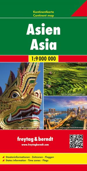 Asien, Kontinentkarte 1:9 000 000