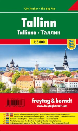 Tallinn, Stadtplan 1:10.000, City Pocket + The Big Five