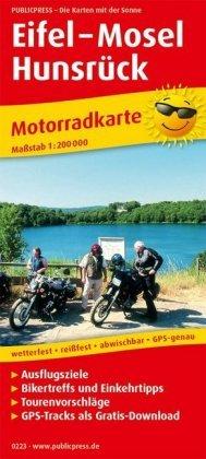 Eifel / Moezel / Hunsrück motorkaart