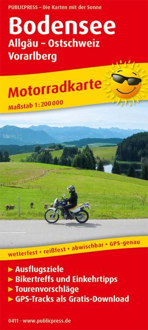 Bodenmeer / Allgäu / Oost Zwitserland / Vorarlberg motorkaart