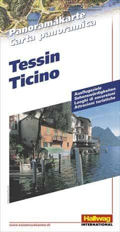 Tessin Panoramakarte Hallwag