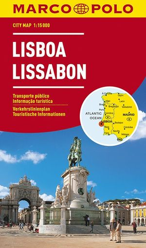 Lissabon Marco Polo 1:15.000 Geplastificeerd