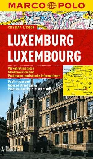 Marco Polo Luxemburg Cityplan