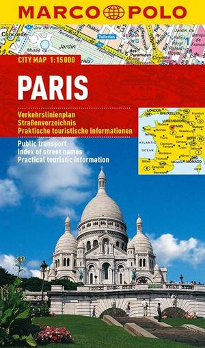 Parijs Stadsplattegrond Marco Polo 1:15.000