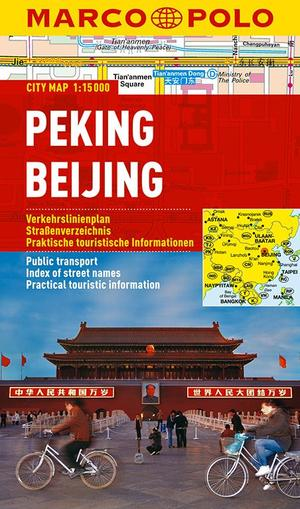 Peking Beijing Marco Polo City Map 1:15.000