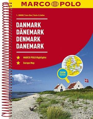 Denemarken Wegenatlas Marco Polo