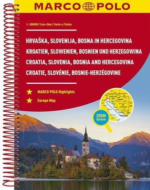 Kroatië, Slovenië, Bosnië-Herzegovina Wegenatlas Marco Polo