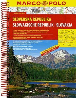 Slowakije Wegenatlas Marco Polo