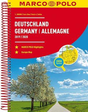MARCO POLO Reiseatlas Deutschland 2019/2020 1:300 000, Europa 1:4 500 000