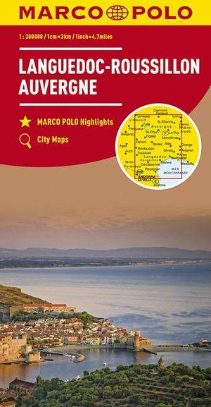 Marco Polo Languedoc-Roussilon, Auvergne 1:300.000