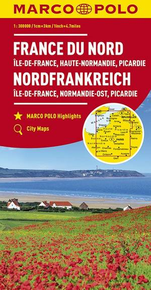 Marco Polo Noord-Frankrijk 1:300.000