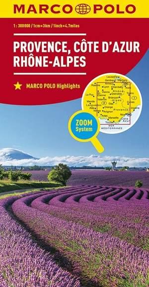 Marco Polo Provence, Cote d'Azur, Rhone-Alpes 1:300.000