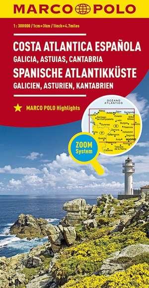 Spanische Atlantikkuste Galicie 1:300.000