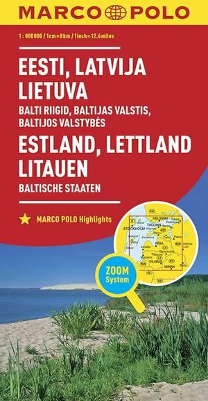 Estland Lettland Litauen 1:800.000