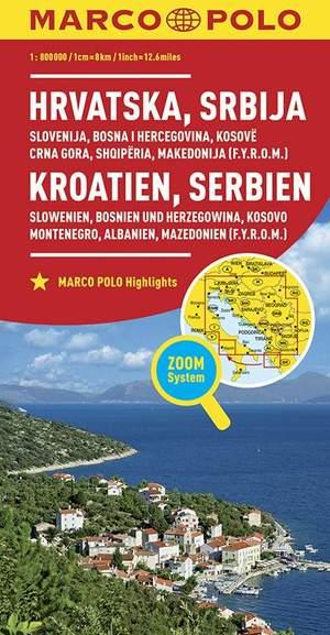 Marco Polo Kroatie, Servië, Bosnië, Slovenië, Kosovo, Montenegro, Albanië, Macedonië