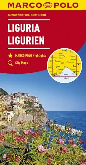 Mpk 05 Ligurie Marco Polo Wegenkaart 1:200.000