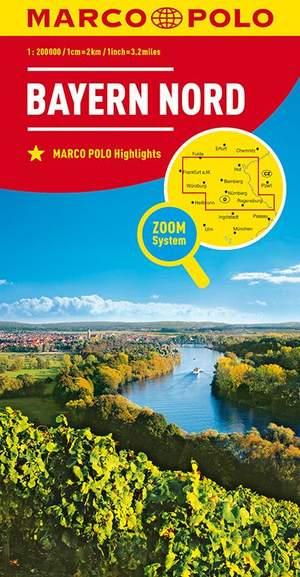 Mpk D12 Bayern Nord Marco Polo 1:200.000