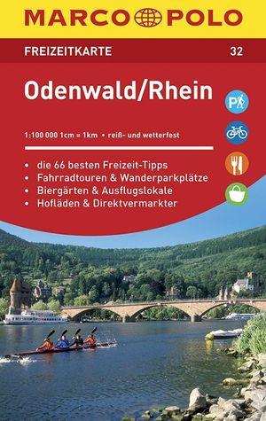 Odenwald Rhein Freizeitkarte 32 1:100.000