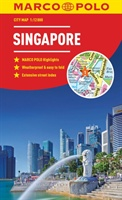 Singapore Marco Polo City Map 2018 - Pocket Size, Easy Fold, Singapore Street Map