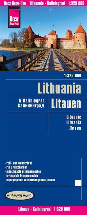 Litouwen & Kaliningrad wegenkaart