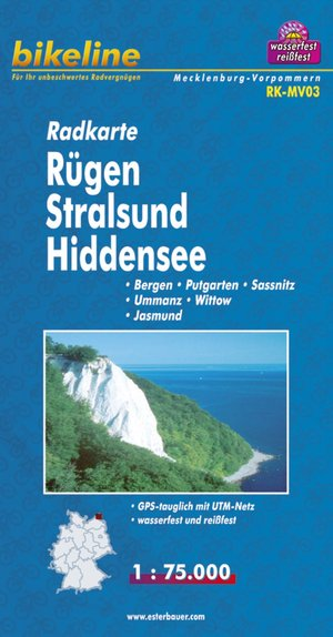 Rugen/stralsund/hiddensee Cycle Map Gps