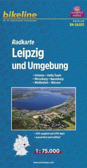 Leipzig And Environs Fietskaart