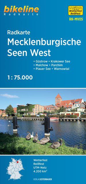 Mecklenburgische Seen West Cycle Map