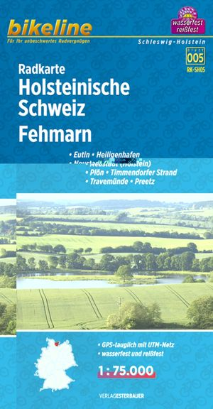 Holsteinische Schweiz / Fehmarn fietskaart