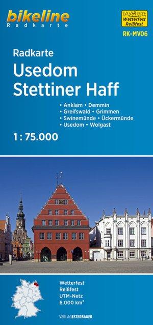 Usedom Stettiner Haff fietskaart