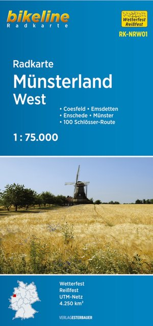 Münsterland West fietskaart