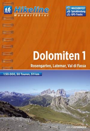 Dolomiten 1 Rosengarten / Latemar / Val di Fassa