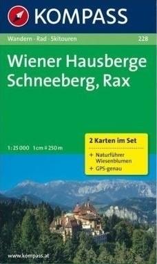 Kompass WK228 Wiener Hausberge, Schneeberg, Rax