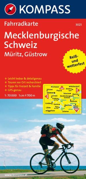 Kompass FK3021 Mecklenburgische Schweiz, Müritz, Güstrow