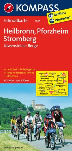 Kompass FK3095 Heilbronn, Pforzheim, Stromberg, Löwensteiner Berge