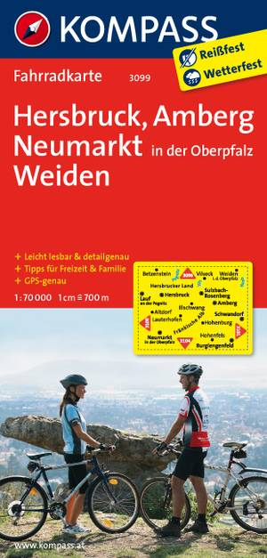 Kompass FK3099 Hersbruck, Amberg, Neumarkt, Oberpfalz, Weiden