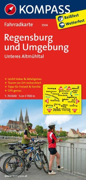 Kompass FK3104 Regensburg und Umgebung, Unteres Almühtal
