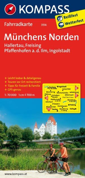 Kompass FK3114 Münchens Norden, Hallertau, Freising, Pfaffenhofen a,d, Ilm, Ingolstadt