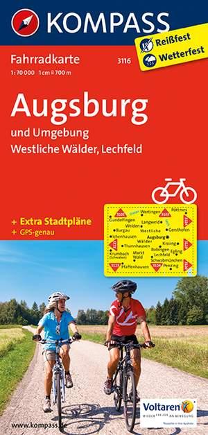 Kompass FK3116 Augsburg und Umgebung, Westliche Wälder, Lechfeld