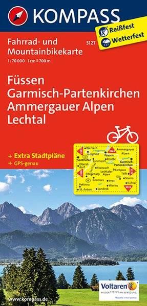 Kompass FK3127 Füssen, Garmisch-Partenkirchen, Ammergauer Alpen, Lechtal