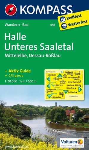 Kompass WK458 Halle, Unteres Saaletal