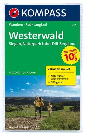 Kompass WK847 Westerwald, Sieg, Naturpark Lahn-Dill-Bergland