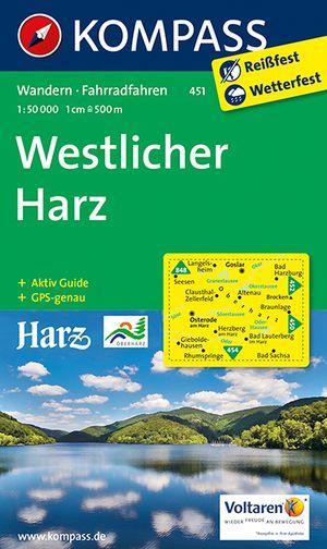 Kompass WK451 Westlicher Harz