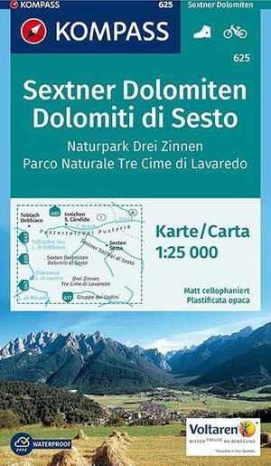 Kompass WK625 Sextner Dolomiten