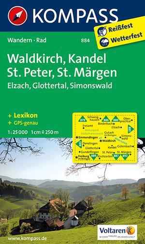 Kompass WK884 Waldkirch, Kandel, St,Peter, St, Märgen
